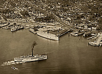 historical aerial photograph wharfs Washington, DC 1931