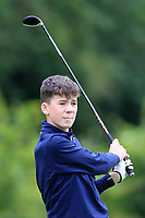 Dylan Walsh (Ballinrobe) on the 1st tee during the Connacht U12, U14, U16, U18 Close Finals 2019 in Mountbellew Golf Club, Mountbellew, Co. Galway on Monday 12th August 2019.<br /> <br /> Picture:  Thos Caffrey / www.golffile.ie<br /> <br /> All photos usage must carry mandatory copyright credit (© Golffile | Thos Caffrey)