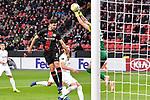 08.11.2018, BayArena, Leverkusen, GER, Europa League, Bayer 04 Leverkusen vs FC Z&uuml;rich, DFL regulations prohibit any use of photographs as image sequences and/or quasi-video <br /> <br /> im Bild Strafraumszene . Torchance von Aleksandar Dragovic (#6, Bayer 04 Leverkusen) li. Yanick Brecher (#25, FC Z&uuml;rich / Zuerich) re.<br /> <br /> Foto &copy; nordphoto/Mauelshagen