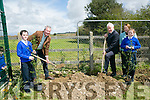 St Teresa NS Kilflynn students Ava Flanagan and Sean Rohan with principal Mary Carroll helped István S. Pálffy, Ambassador of Hungary to Ireland and Jimmy Deenihan plant Trees on their  visit to   the school on Friday as part of the Blue Flag Programme