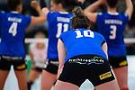 18.11.2018, Halle Berg Fidel, Muenster<br />Volleyball, Bundesliga Frauen, Normalrunde, USC MŸnster / Muenster vs. VfB Suhl Lotto ThŸringen / Thueringen<br /><br />Maiara Basso (#10 Suhl) / Werbung Suhl fuer Landkreis Schmalkalden / Meiningen - prachtregion.de<br /><br />  Foto &copy; nordphoto / Kurth