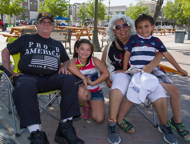 The Lindberg family during Star Spangled Sparks on Wednesday July 4, 2018 in downtown Sparks.