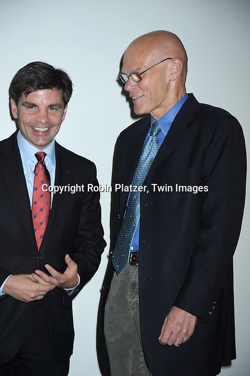 George Stephanopoulos and James Carville attending The  National Center for Learning Disabilities 33rd Annual Benefit Dinner on April 28, 2010 at Tribeca Rooftop in New York City.
