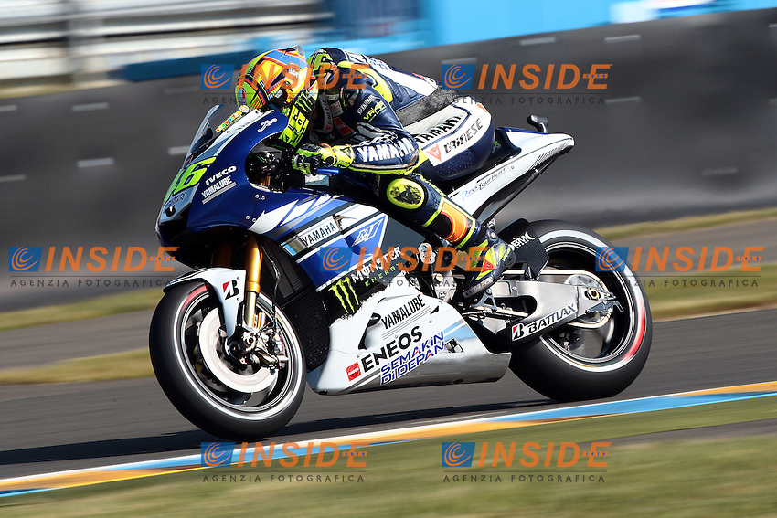 .18-05-2013 Le Mans (FRA).Motogp world championship.in the picture: Valentino Rossi - Yamaha factory team .Foto Semedia/Insidefoto.ITALY ONLY