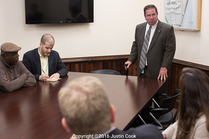 Division of Adult Correction & Juvenile Justice Commissioner David Guice (CQ) at Central Prison in Raleigh, NC on Thursday, November 17, 2016. (Justin Cook)