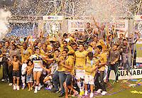 RIO DE JANEIRO, RJ, 10 MARÇO 2013 - TAÇA GUANABARA - Jogadores do Botafogo comemoram a conquista da Taça Guanabara após vitória em cima do Vasco, por 1 X 0,(primeiro turno do Estadual do Rio de Janeiro), no Estádio do Engenhão, na zona norte do Rio, neste domingo. 10/03/2013 - (FOTO: SANDROVOX / BRAZIL PHOTO PRESS).