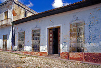 Trinidad Cuba, Urban, Cobblestone Street, Republic of Cuba, , pictures of front door entrances