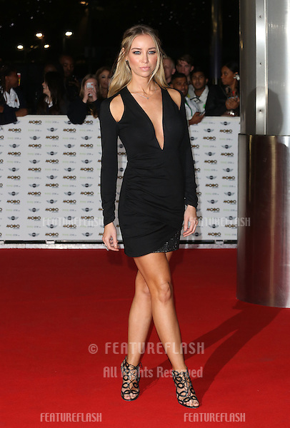 Lauren Pope arriving for The MOBO Awards 2014 held at Wembley Arena, London. 22/10/2014 Picture by: James Smith / Featureflash