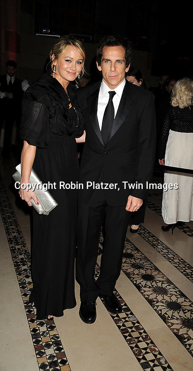 Christine Taylor and husband Ben Stiller..posing for photographers at The Museum of the Moving Image salute to Ben Stiller on November 12, 2008..at Cipriani's 42nd Street in New York City. ....Robin Platzer, Twin Images