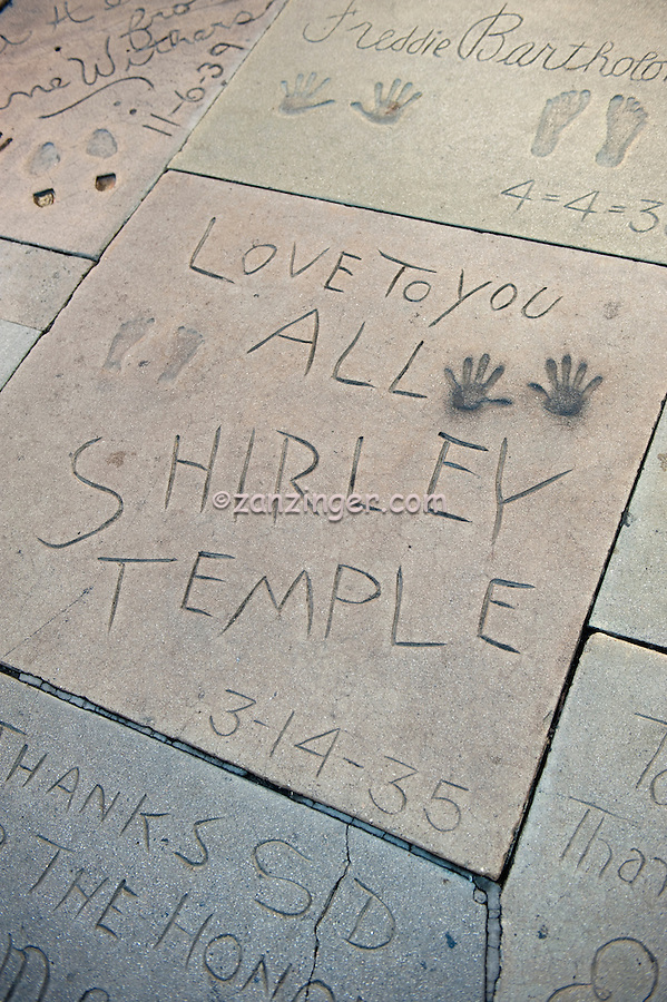 Shirley Temple,  Hand - Footprint, Impressions, Grauman's, Chinese, Theater, Hollywood, CA