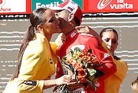 Joaquin Purito Rodriguez with the leader's red jersey after the stage of La Vuelta 2012 between Logroño and Logroño.August 22,2012. (ALTERPHOTOS/Acero) /NortePhoto.com<br /> <br /> **SOLO*VENTA*EN*MEXICO**<br /> **CREDITO*OBLIGATORIO**<br /> *No*Venta*A*Terceros*<br /> *No*Sale*So*third*<br /> *** No Se Permite Hacer Archivo**<br /> *No*Sale*So*third*