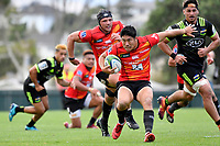 Rikiya MATSUDA (松田 力也) in action during the Hurricanes Hinters v Wolfpack at Jerry Collins Stadium, Porirua, New Zealand on Friday 29 March 2019. <br /> Photo by Masanori Udagawa. <br /> www.photowellington.photoshelter.com