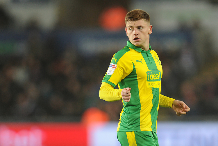 West Bromwich Albion's Harvey Barnes<br /> <br /> Photographer Kevin Barnes/CameraSport<br /> <br /> The EFL Sky Bet Championship - Swansea City v West Bromwich Albion - Wednesday 28th November 2018 - Liberty Stadium - Swansea<br /> <br /> World Copyright &copy; 2018 CameraSport. All rights reserved. 43 Linden Ave. Countesthorpe. Leicester. England. LE8 5PG - Tel: +44 (0) 116 277 4147 - admin@camerasport.com - www.camerasport.com
