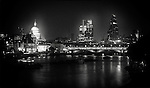 City of London view from waterloo bridge, london, uk