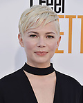 WESTWOOD, CA - APRIL 17: Michelle Williams arrives at the Premiere Of STX Films' 'I Feel Pretty' at Westwood Village Theatre on April 17, 2018 in Westwood, California.