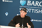 Padraig Harrington gives an interview ahead of the 2011 Barclays Scottish Open, played over the links at Castle Stuart, Inverness, Scotland from 7th to 10th July 2011:  picture, Stuart Adams, www.golffile.ie: 5th July 2011