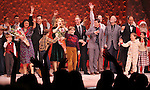 Warren Carlyle, Caroline O'Connor, James Gray, Erin Dilly, Dan Lauria, Johnny Rabe, Justin Paul, Benj Pasek, John Bolton, Joseph Robinette, & Company  during the Broadway Opening Night Performance Curtain Call for 'A Christmas Story - The Musical'  at the Lunt Fontanne Theatre in New York City on 11/19/2012.