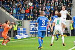 11.05.2019, PreZero Dual Arena, Sinsheim, GER, 1. FBL, TSG 1899 Hoffenheim vs. SV Werder Bremen, <br /> <br /> DFL REGULATIONS PROHIBIT ANY USE OF PHOTOGRAPHS AS IMAGE SEQUENCES AND/OR QUASI-VIDEO.<br /> <br /> im Bild: Johannes Eggestein (SV Werder Bremen #24) trifft das Tor zum 1:0 gegen Ermin Bicakcic (TSG Hoffenheim #4)<br /> <br /> Foto &copy; nordphoto / Fabisch