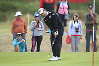 Amy Yang (KOR) on the 1st green during Round 3 of the Ricoh Women's British Open at Royal Lytham &amp; St. Annes on Saturday 4th August 2018.<br /> Picture:  Thos Caffrey / Golffile<br /> <br /> All photo usage must carry mandatory copyright credit (&copy; Golffile | Thos Caffrey)
