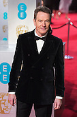 London, UK. 14 February 2016. Actor Bryan Cranston. Red carpet arrivals for the 69th EE British Academy Film Awards, BAFTAs, at the Royal Opera House. © Vibrant Pictures/Alamy Live News
