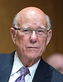 """United States Senator Pat Roberts (Republican of Kansas) listens as John Koskinen, Commissioner, Internal Revenue Service, testifies before the United States Senate Committee on Finance on """"IRS Operations and the President's Budget for Fiscal Year 2016"""" in Washington, D.C. on Tuesday, February 3, 2015.  During his testimony, Koskinen said """"In regard to software, we still have applications that were running when John F. Kennedy was President.""""<br /> Credit: Ron Sachs / CNP"""