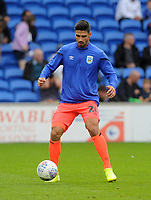 Huddersfield Town's Christopher Schindler during the pre-match warm-up <br /> <br /> Photographer Ian Cook/CameraSport<br /> <br /> The EFL Sky Bet Championship - Cardiff City v Huddersfield Town - Wednesday August 21st 2019 - Cardiff City Stadium - Cardiff<br /> <br /> World Copyright © 2019 CameraSport. All rights reserved. 43 Linden Ave. Countesthorpe. Leicester. England. LE8 5PG - Tel: +44 (0) 116 277 4147 - admin@camerasport.com - www.camerasport.com