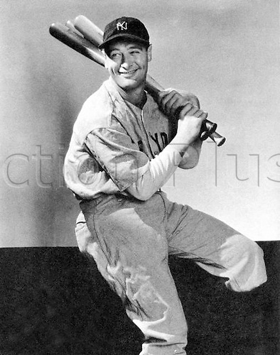 Unknown date. Lou Gehrig from Hungary also known as Biscuit Pants. American Baseball player
