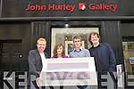 GALLERY OPENING: John Hurley at the opening of his new Gallery in Castle Street, Tralee on Monday l-r: Tommy Fleming, Joanna Hurley, Tom O'Hara and John Hurley.