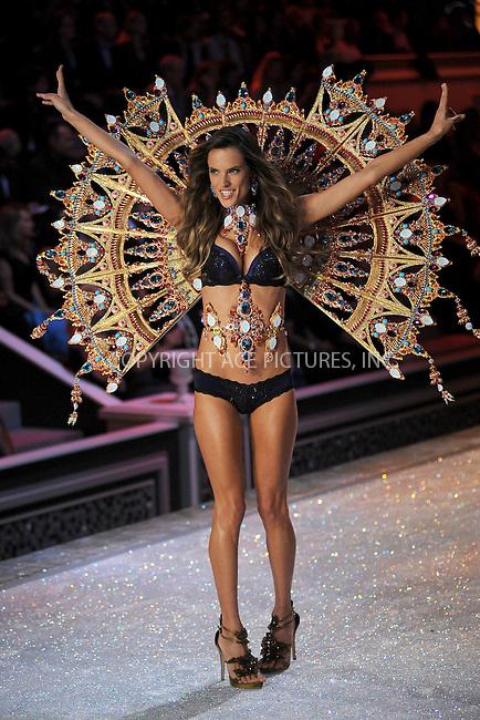 WWW.ACEPIXS.COM . . . . . .November 9, 2011 New York City.... Alessandra Ambrosio walks the runway during the 2011 Victoria's Secret Fashion Show at the Lexington Avenue Armory on November 9, 2011 in New York City.....Please byline: KRISTIN CALLAHAN - ACEPIXS.COM.. . . . . . ..Ace Pictures, Inc: ..tel: (212) 243 8787 or (646) 769 0430..e-mail: info@acepixs.com..web: http://www.acepixs.com .