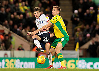 Bolton Wanderers' Joe Williams gets away from Norwich City's Marco Stiepermann<br /> <br /> Photographer David Shipman/CameraSport<br /> <br /> The EFL Sky Bet Championship - Norwich City v Bolton Wanderers - Saturday 8th December 2018 - Carrow Road - Norwich<br /> <br /> World Copyright &copy; 2018 CameraSport. All rights reserved. 43 Linden Ave. Countesthorpe. Leicester. England. LE8 5PG - Tel: +44 (0) 116 277 4147 - admin@camerasport.com - www.camerasport.com