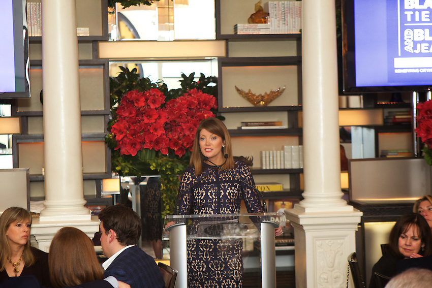 New York, NY - March 13, 2016: CBS This Morning co-host Norah O'Donnell at Black Tie and Blue Jeans, the annual Sunday Supper fundraiser at Daniel, benefiting Citymeals on Wheels.<br /> <br /> CREDIT: Clay Williams for Edible Manhattan.<br /> <br /> &copy; Clay Williams / claywilliamsphoto.com