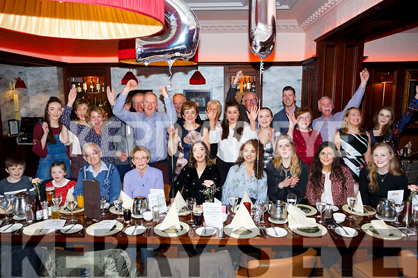 Louise McAuliffe, Tralee celebrating her 21st Birthday with family at the Grand Hotel on Friday