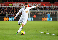 Pictured: Gylfi Sigurdsson of Swansea Saturday 10 January 2015<br />