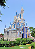 Cinderella's Castle, the iconic Walt Disney corporate symbol, located in the Magic Kingdom theme park in the Walt Disney World Resort in Lake Buena Vista, Florida on Sunday, May 9, 2010..Credit: Ron Sachs / CNP