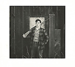 Man with shot gun, 1970's, Cammal, PA. Analog print 6x6.25. Agfa Brovira 111. 1/1