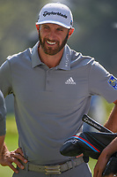 Dustin Johnson (USA) has a chat on the practice green during the preview of the World Golf Championships, Mexico, Club De Golf Chapultepec, Mexico City, Mexico. 2/28/2018.<br /> Picture: Golffile | Ken Murray<br /> <br /> <br /> All photo usage must carry mandatory copyright credit (&copy; Golffile | Ken Murray)