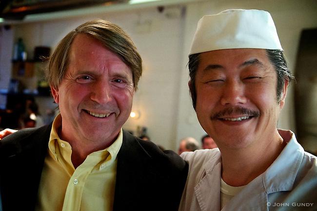 John Craig, Chairman of the 'Japanese Society'..Chef Hiro Yoshida, Hiro Sushi.