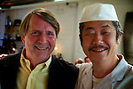 John Craig, Chairman of the 'Japanese Society'..Chef Hiro Yoshida, Hiro Sushi.