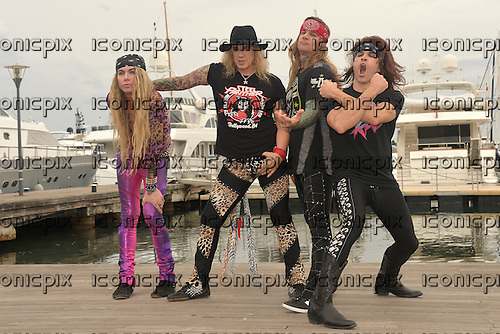 STEEL PANTHER - L-R:  Lexxi Foxx, Michael Starr, Stix Zadinia, Satchel - photocall in Cannes France - 17 Oct 2016.  Photo credit: Xavier Depoilly/Dalle/IconicPix