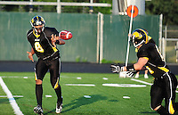The Madison Mustangs take on the Rock County Gladiators on Saturday, August 8, 2009, in Ironman Football League competition at Breitenbach Stadium in Middleton, Wisconsin