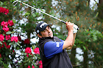 Angel Cabrera tee shot on the par 3 tenth in the third round of the BMW PGA Championship on the 26th of May 2007 at the Wentworth Golf Club, Surrey, England. (Photo by Manus O'Reilly/NEWSFILE)