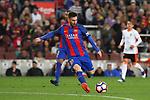 Messi en el partido de liga entre el FC Barcelopna contra el Valencia en el Camp Nou