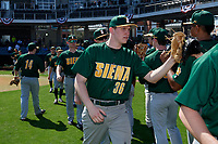 Siena Saints Nate Toms (36) before a game against the UCF Knights on February 17, 2019 at John Euliano Park in Orlando, Florida.  UCF defeated Siena 7-1.  (Mike Janes/Four Seam Images)