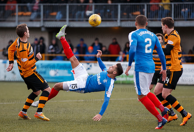 Harry Forrester tries to score with an overhead kick but shoots wide
