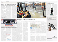 NZZ am Sonntag  (main Swiss Sunday paper) on Roma migrants from Serbia, Belgrade, 08.2012<br />
