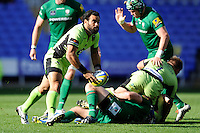 Kahn Fotuali'i of Northampton Saints during the Premiership Rugby match between London Irish and Northampton Saints at the Madejski Stadium on Saturday 4th October 2014 (Photo by Rob Munro)