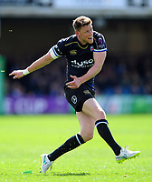 Rhys Priestland of Bath Rugby kicks for the posts. European Rugby Challenge Cup Quarter Final, between Bath Rugby and CA Brive on April 1, 2017 at the Recreation Ground in Bath, England. Photo by: Patrick Khachfe / Onside Images