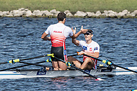 Sarasota. Florida USA. Silver Medalist POL M2X. Bow. Miroslaw <br /> ZIETARSKI and Mateusz<br /> BISKUP, after the final.. Sunday Final's Day at the  2017 World Rowing Championships, Nathan Benderson Park<br /> <br /> Sunday  01.10.17   <br /> <br /> [Mandatory Credit. Peter SPURRIER/Intersport Images].<br /> <br /> <br /> NIKON CORPORATION -  NIKON D500  lens  VR 500mm f/4G IF-ED mm. 200 ISO 1/800/sec. f 7.1