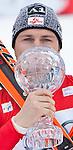 13.03.2010, Goudyberg Herren, Garmisch Partenkirchen, GER, FIS Worldcup Alpin Ski, Garmisch, Men Slalom, im Bild der Gewinner des Slalom Weltcup 2009 2010, Herbst Reinfried, ( AUT ), Ski Blizzard, mit der Kristallkugel, EXPA Pictures © 2010, PhotoCredit: EXPA/ J. Groder