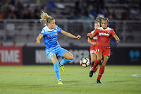 Boyds, MD - Saturday August 26, 2017: Kristie Mewis, Mallory Pugh during a regular season National Women's Soccer League (NWSL) match between the Washington Spirit and the Chicago Red Stars at Maureen Hendricks Field, Maryland SoccerPlex.